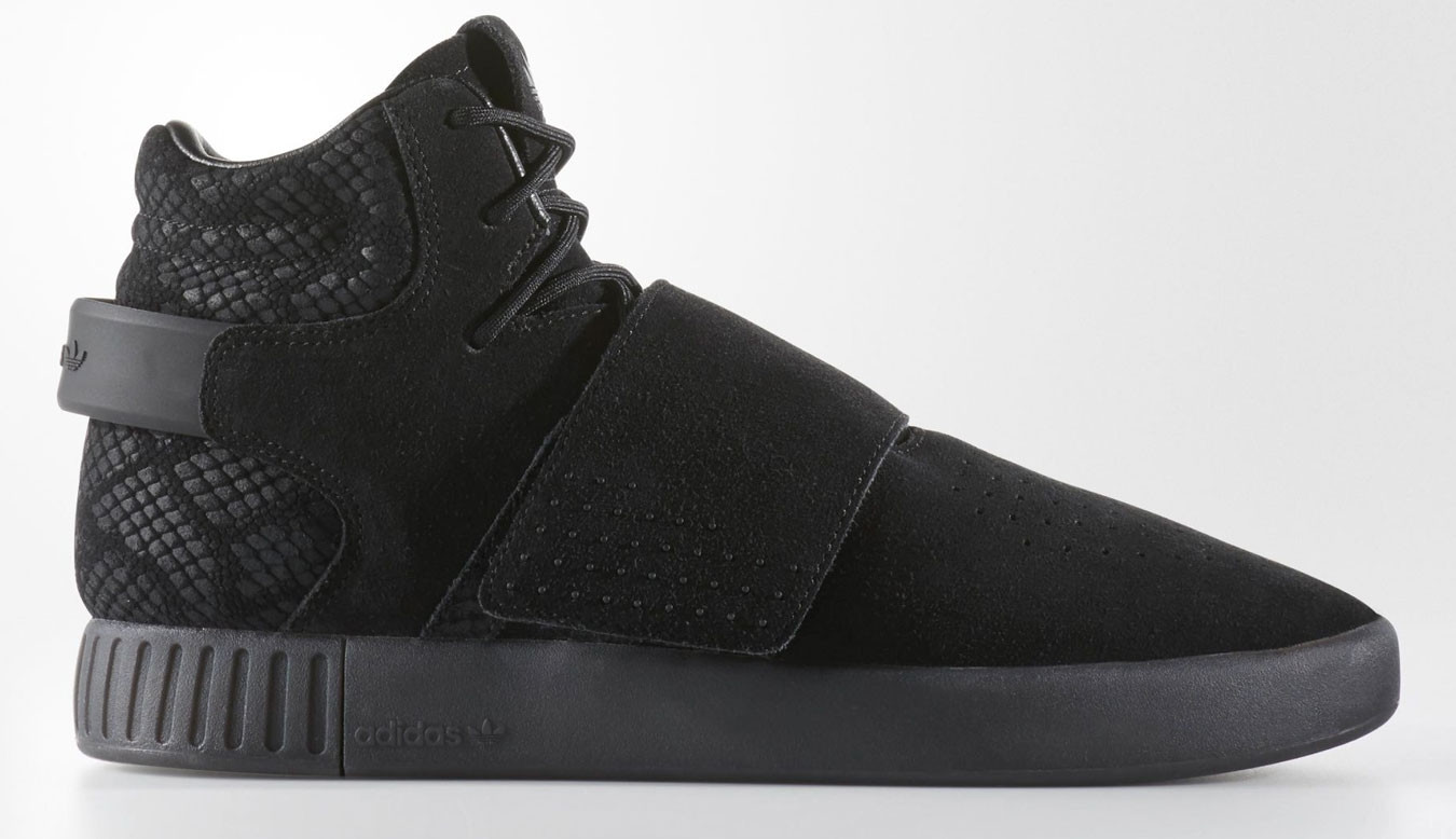 Black sneakers adidas Tubular Invader Strap Core Black 480