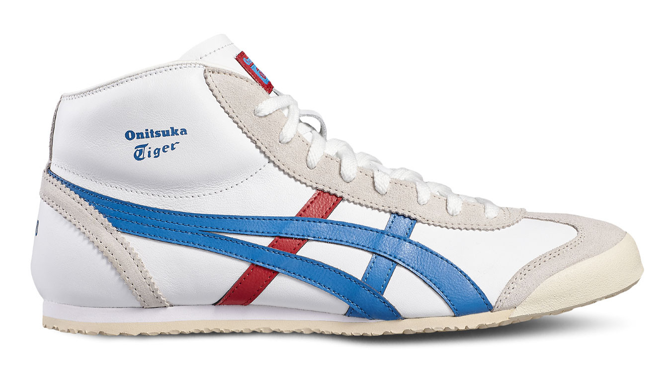onitsuka tiger mexico mid runner blue 40