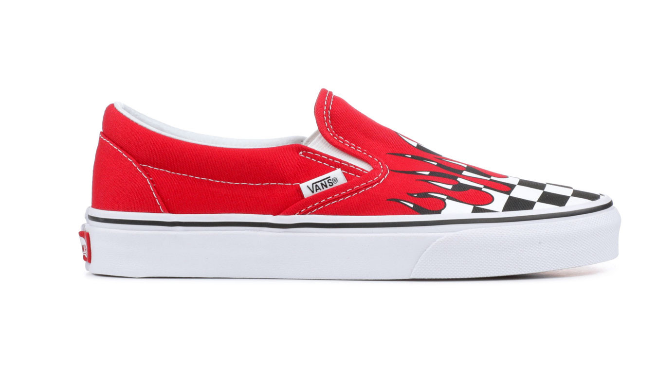 a1e095e9cb0c Vans Ua Classic Slip-On Checker Flame VN0A38F7RX5