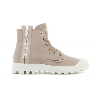 Palladium Pampa 2 Back Zip Canvas Nude Light