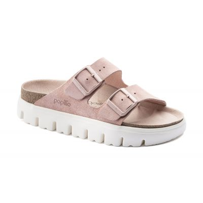 Birkenstock Arizona VL Chunky Suede Soft Pink Narrow Fit