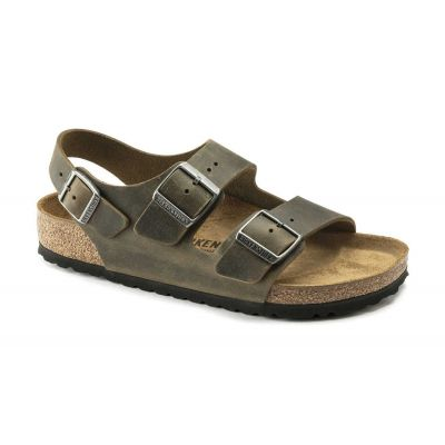 Birkenstock Milano BS Fhaded Khaki Narrow Fit