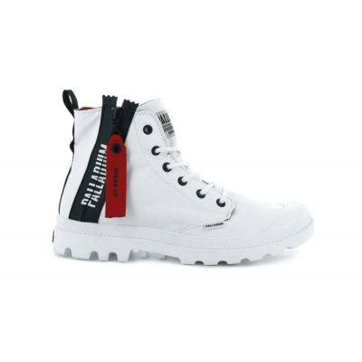 Palladium Boots Pampa Unzipped White