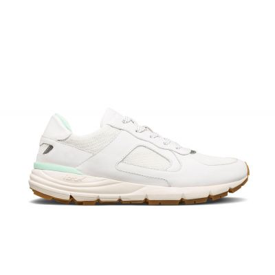 Clae Edwin White Milled Leather Neo Mint