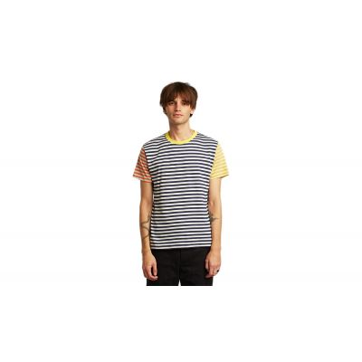 Dedicated T-shirt Stockholm Block Stripes Multi Color