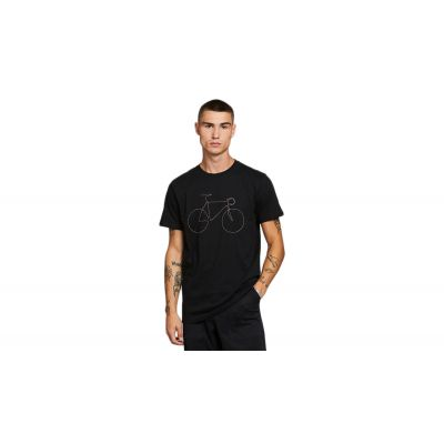 Dedicated T-shirt Stockholm Rainbow Bicycle Black