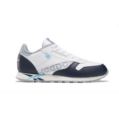 Reebok Classic Leather White Navy Cyan Chal