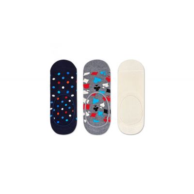 Happy Socks 3-Pack Dot Liner Sock