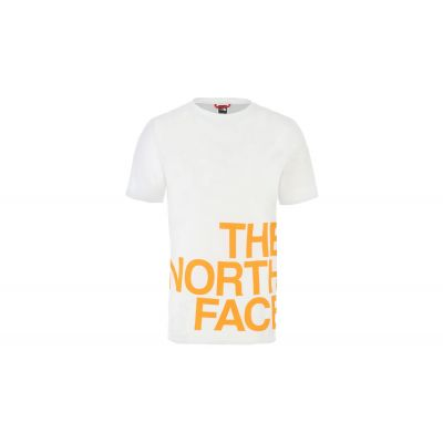 The North Face M Ss Graphic Flow 1 - Eu Tnf White/Flame Orange