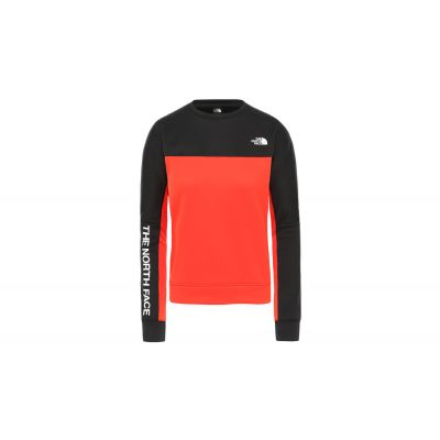 The North Face W Train N Logo Crop Pullover -Eu Fiery Red/Tnf Black