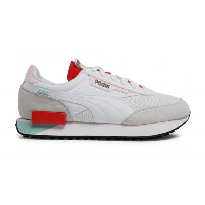Puma Future Rider Neon Play White-Poppy