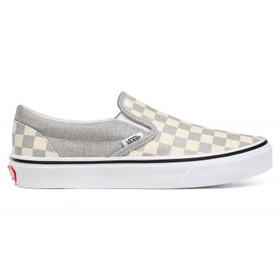 Vans Ua Classic Slip-On (Checkerboard)Silvertrwht
