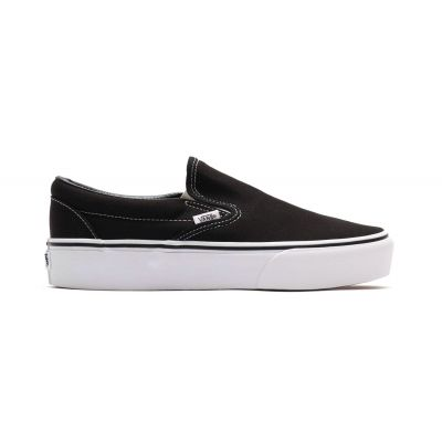 Vans Ua Classic Slip-On Platform Black Marshmallow/Cool Bl/Trwht