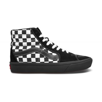 Vans Ua Comfycush Sk8-Hi (Mixed Media)Antquewhtblk