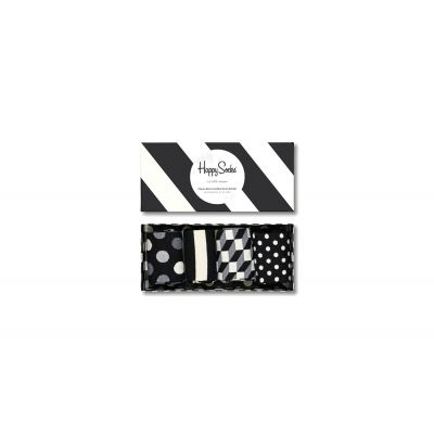 Happy Socks Black and White Gifts Box 4-Pack